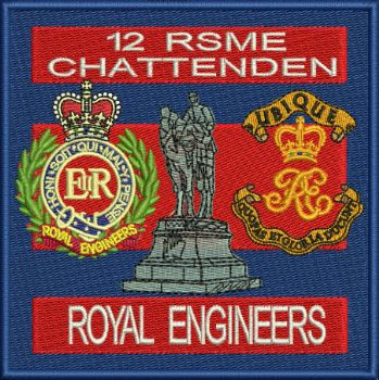 12 RSME Chattendon Embroidered badge SALE